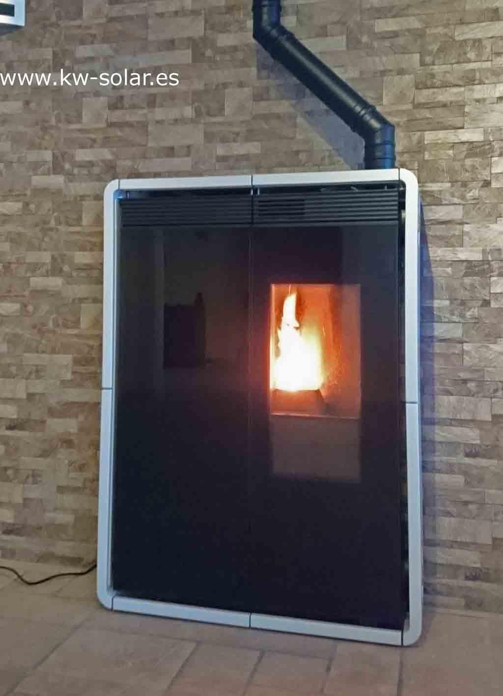 Pellet Stove 8 Kw Black Edilkamin Fire Tiny 9